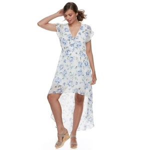 Lily Rose Floral High-Low Maxi Dress